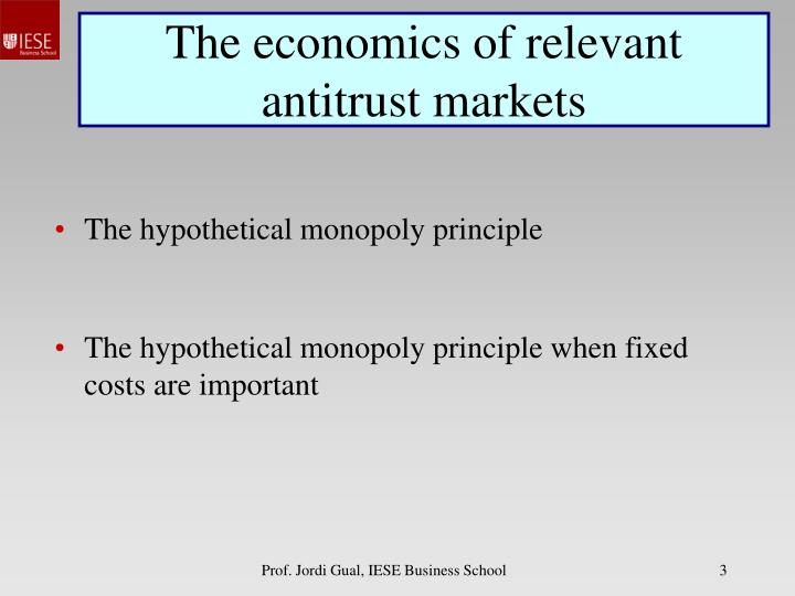 The economics of relevant antitrust markets