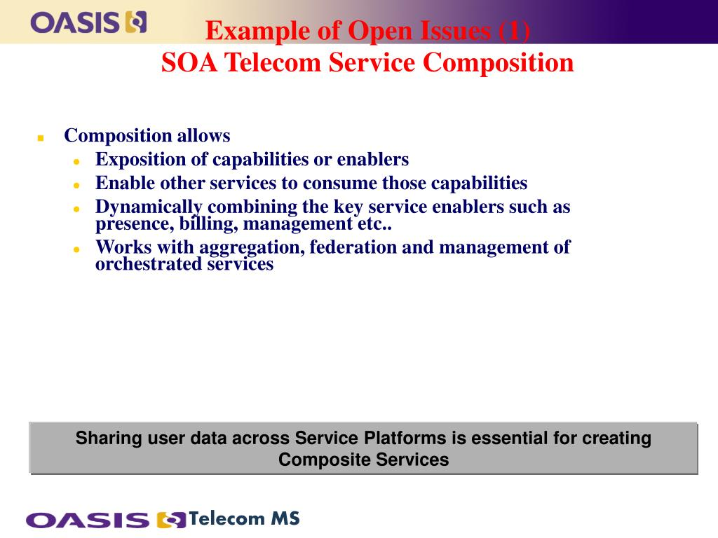 Example of Open Issues (1)