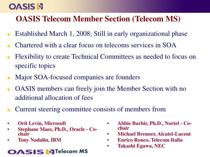 Oasis telecom member section telecom ms