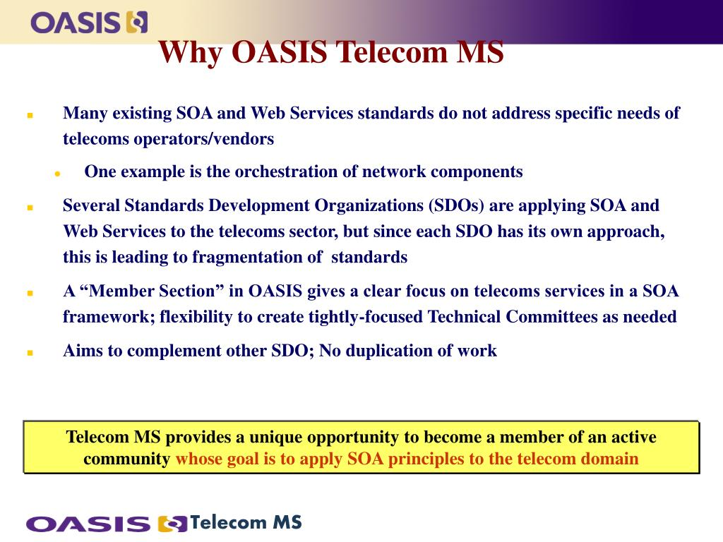 Why OASIS Telecom MS