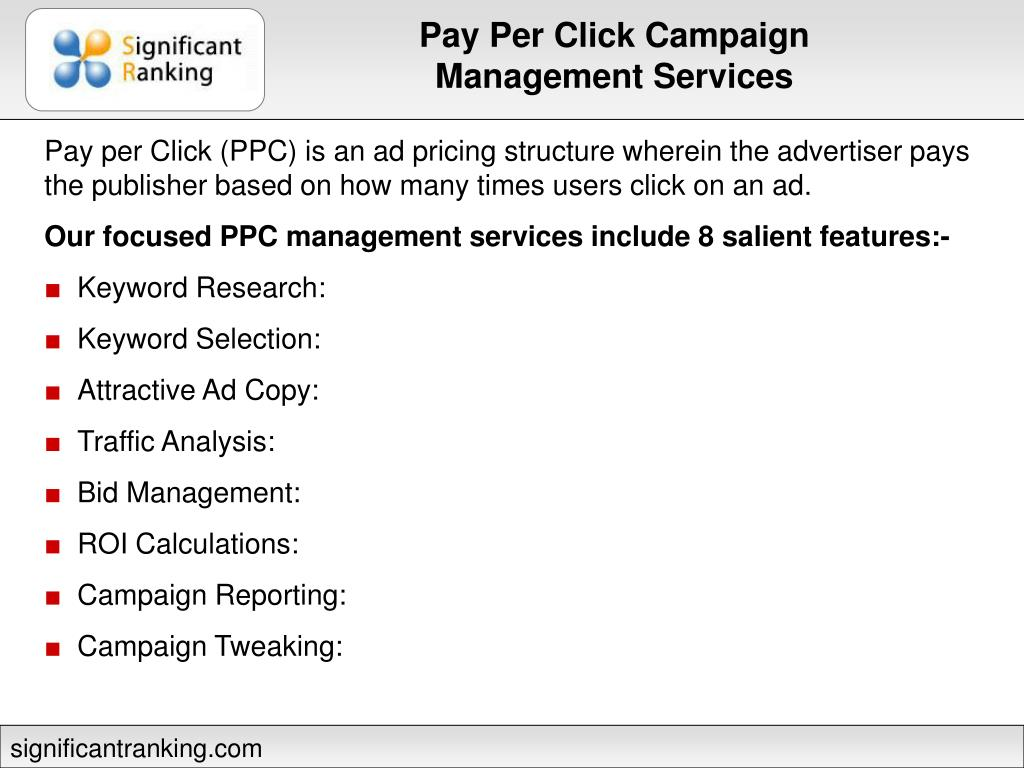 Pay Per Click Campaign Management Services