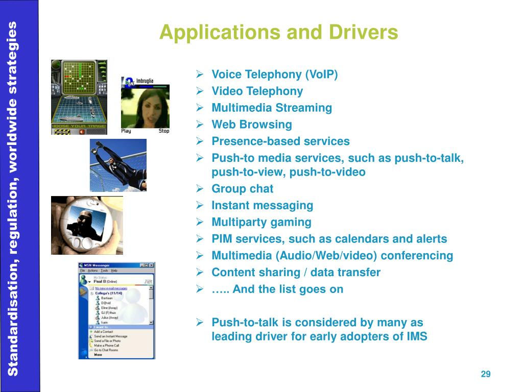 Applications and Drivers