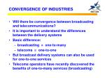convergence of industries