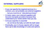external suppliers