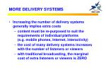 more delivery systems