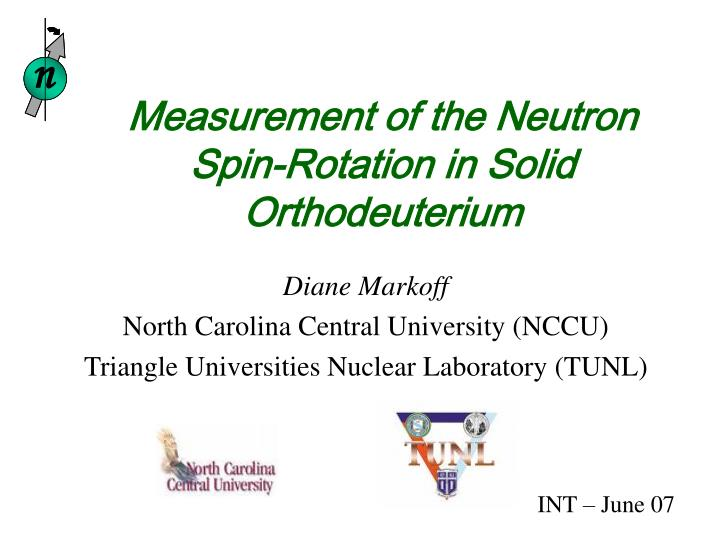 measurement of the neutron spin rotation in solid orthodeuterium n.