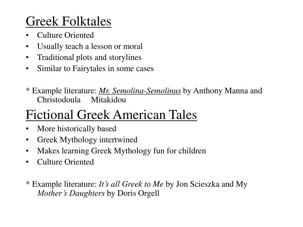 Greek Folktales