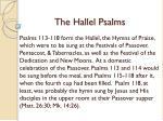 the hallel psalms