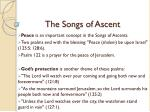 the songs of ascent9