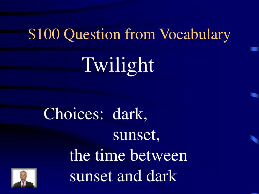 $100 Question from Vocabulary