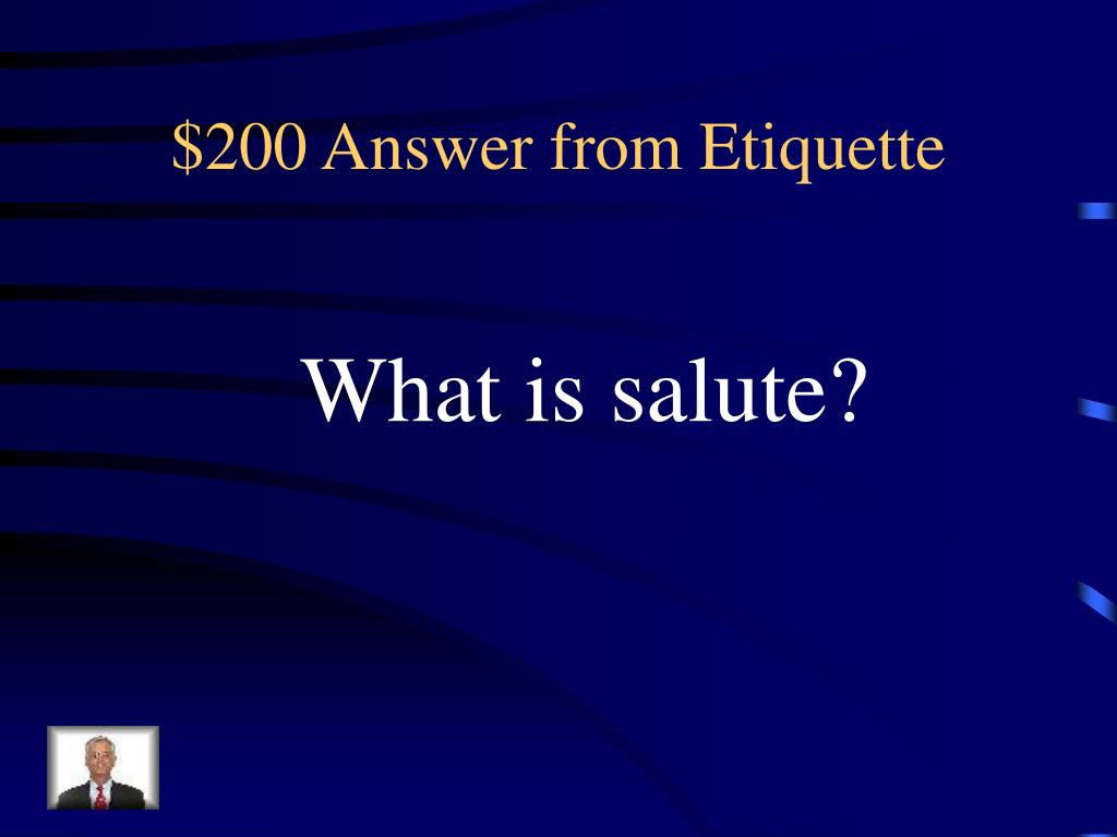 $200 Answer from Etiquette