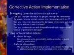 corrective action implementation
