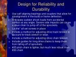 design for reliability and durability23