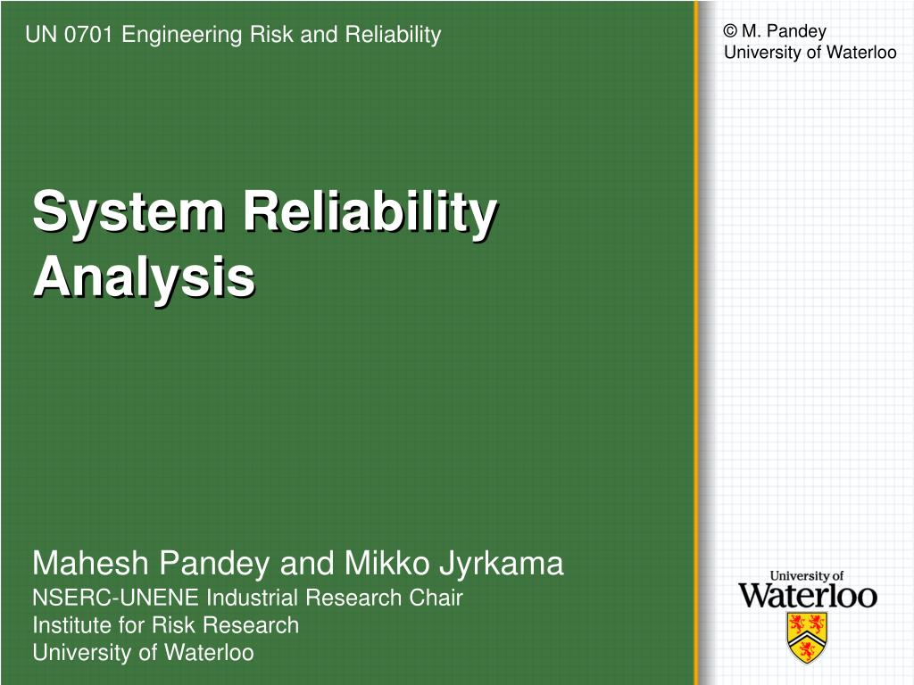 system reliability analysis l.