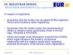 iii registrar model registrar agreement key requirements