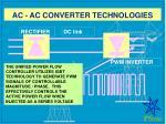 ac ac converter technologies