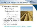 detailed recommendations work plan