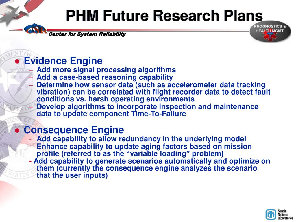 PHM Future Research Plans