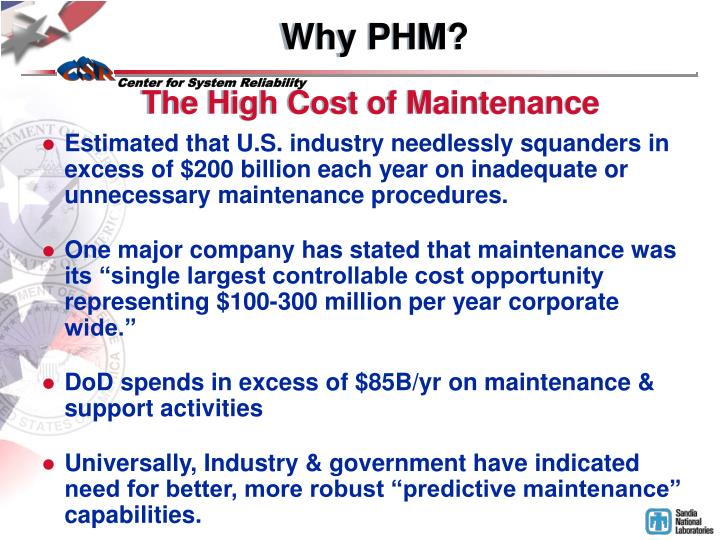 Why PHM?