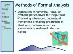 methods of formal analysis