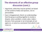 the elements of an effective group discussion cont5