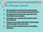 why discussion groups
