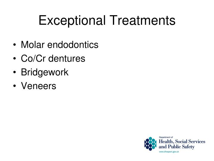 Exceptional Treatments