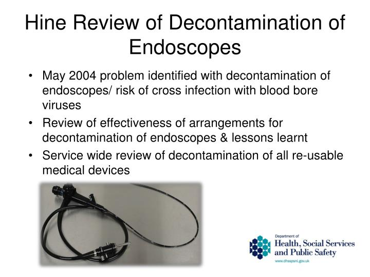 Hine Review of Decontamination of Endoscopes