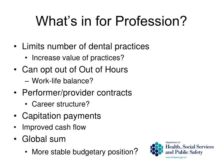 What's in for Profession?