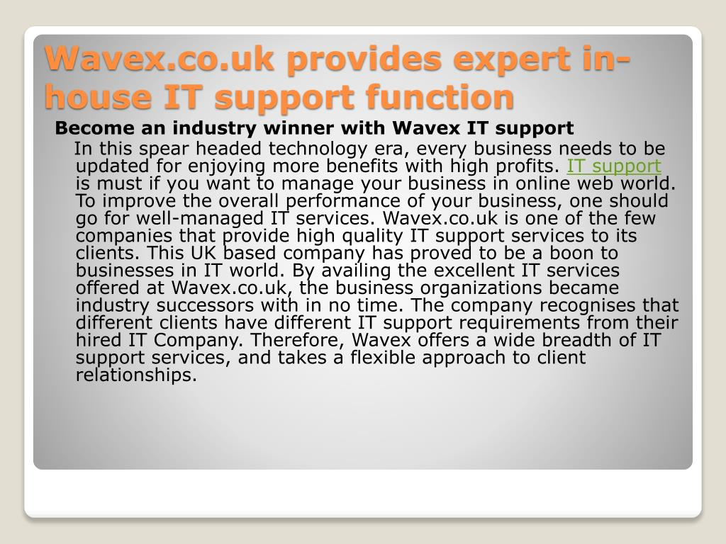 wavex co uk provides expert in house it support function l.