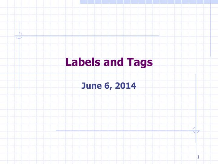 labels and tags n.