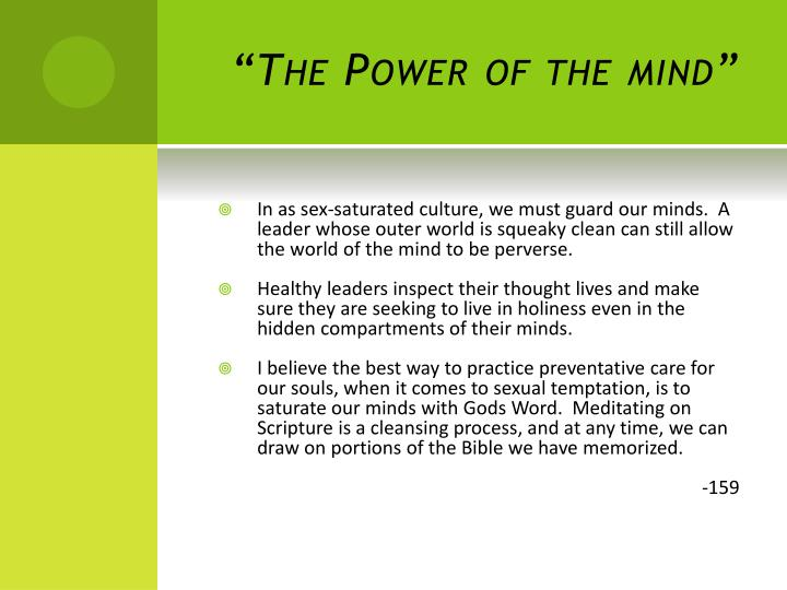 """""""The Power of the mind"""""""