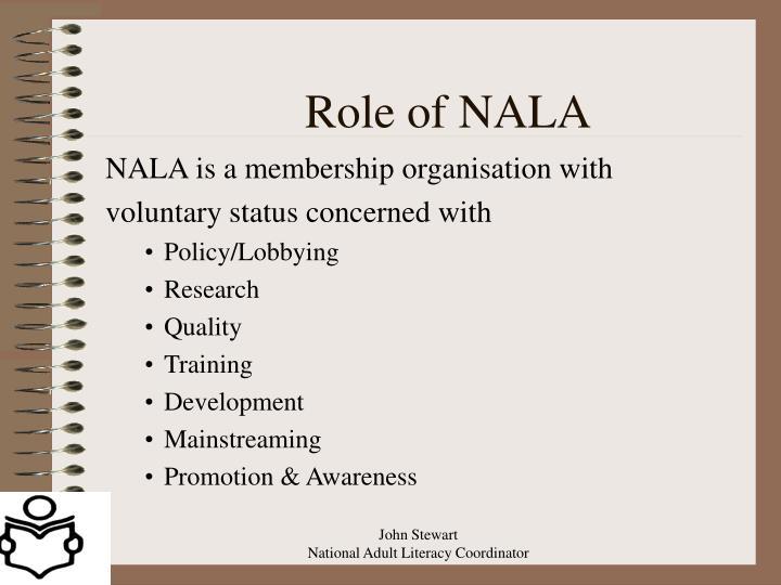 Role of NALA