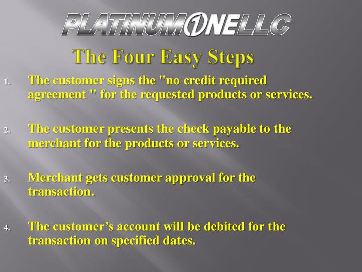 The Four Easy Steps