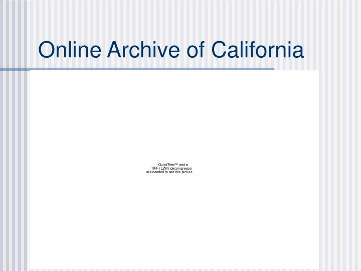 Online Archive of California