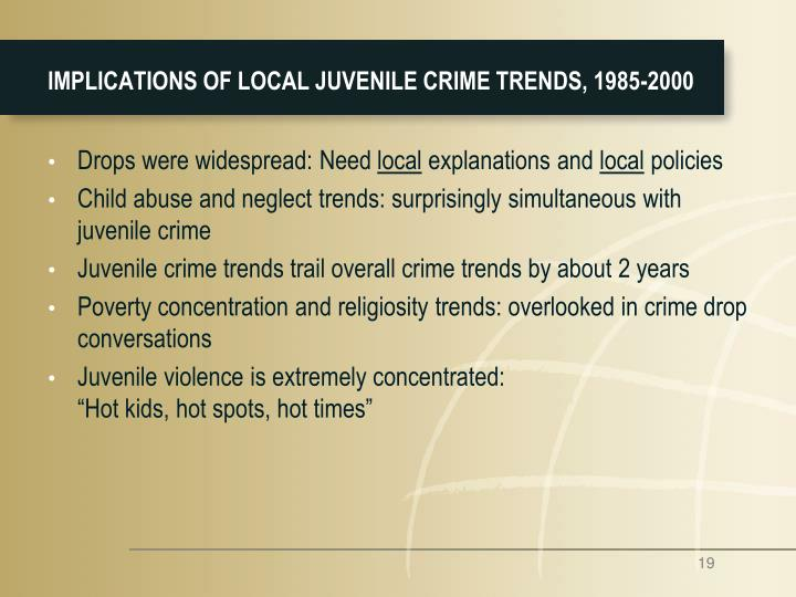 a presentation of several theories explaining juvenile crime Juvenile delinquency theories once a criminal, always a criminal, this is a famous saying that is common to the american household and which most finds to be true once an individual associates him or herself with criminal behavior they are labeled by their community and expected to reoffend.