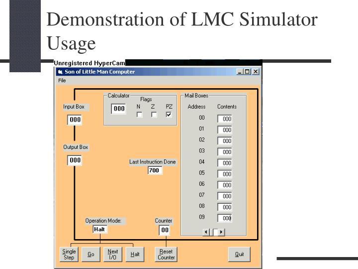 Demonstration of LMC Simulator Usage