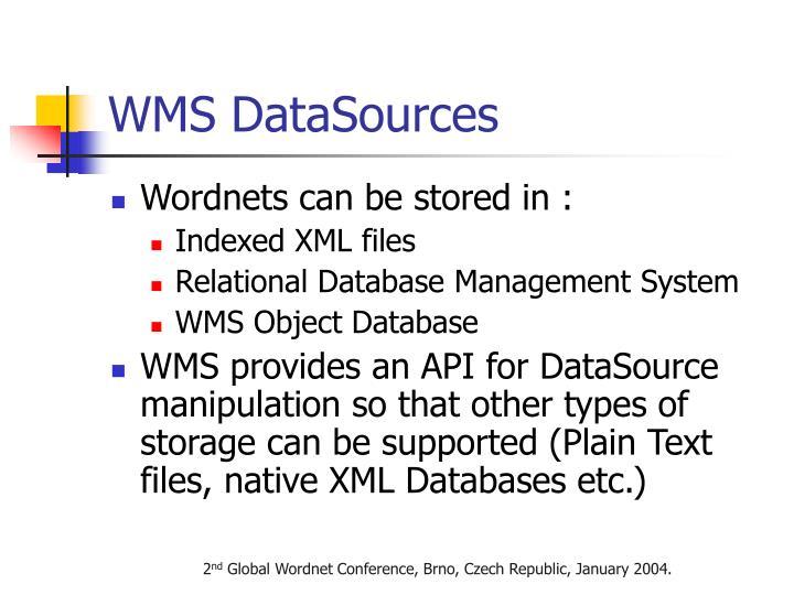 WMS DataSources
