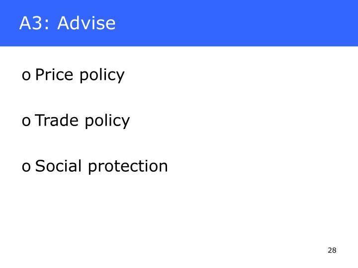 A3: Advise