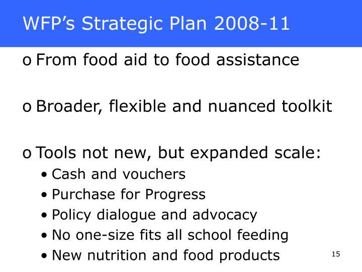 WFP's Strategic Plan 2008-11