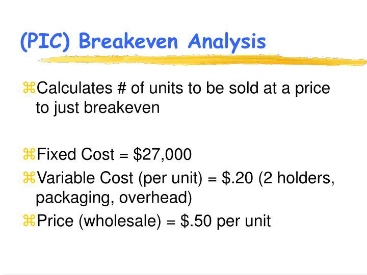 (PIC) Breakeven Analysis