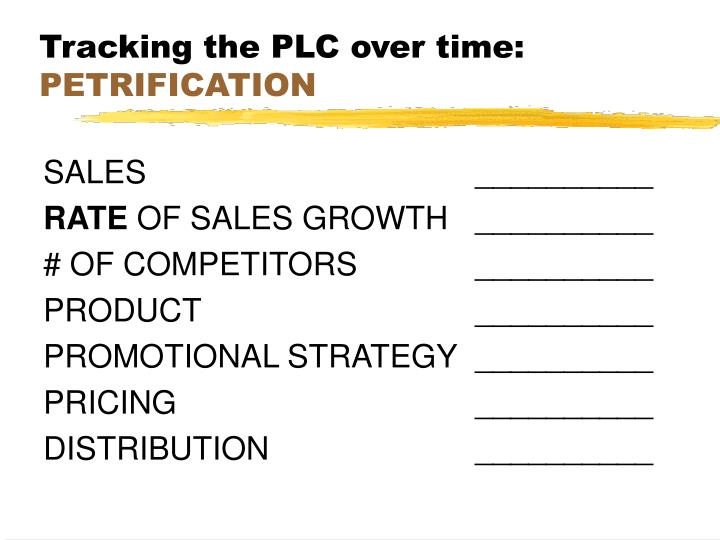 Tracking the PLC over time: