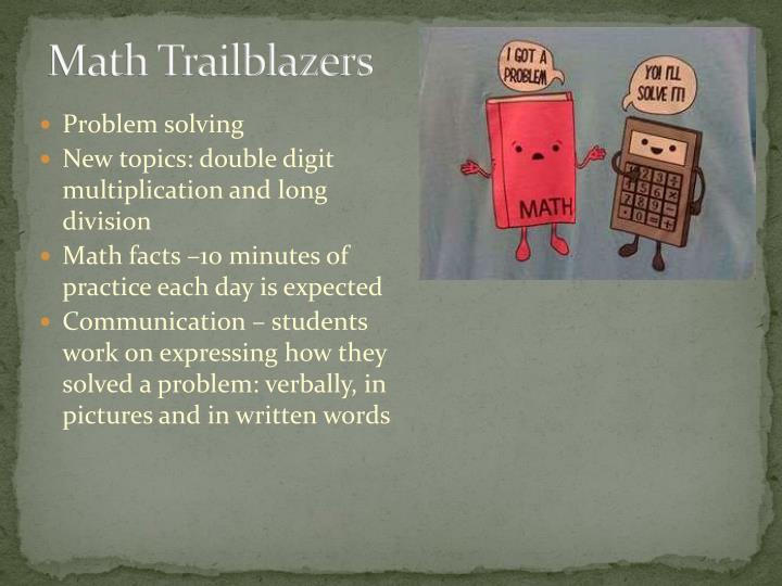 Math Trailblazers
