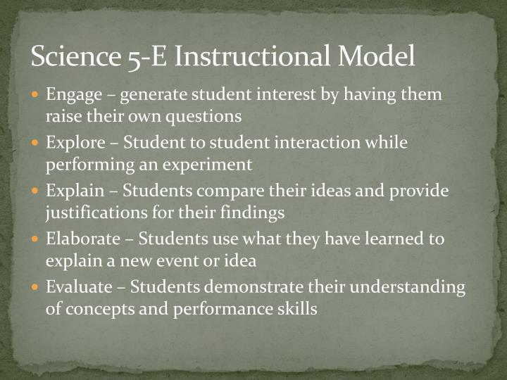 Science 5-E Instructional Model