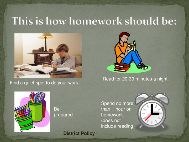 This is how homework should be: