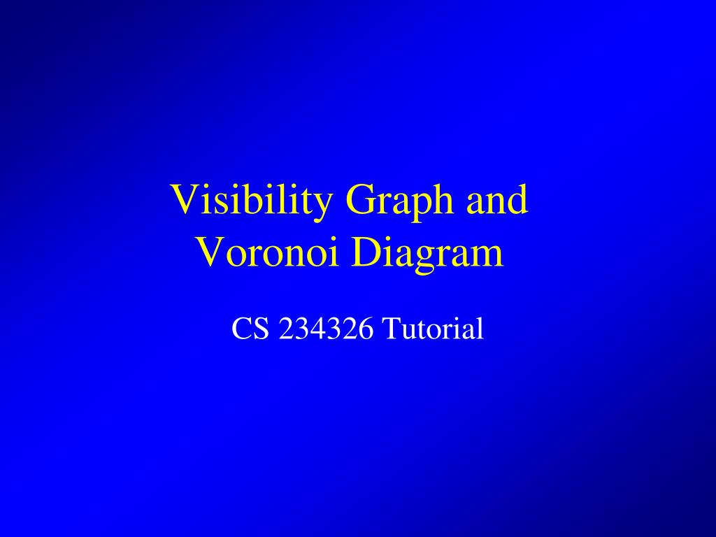visibility graph and voronoi diagram n.