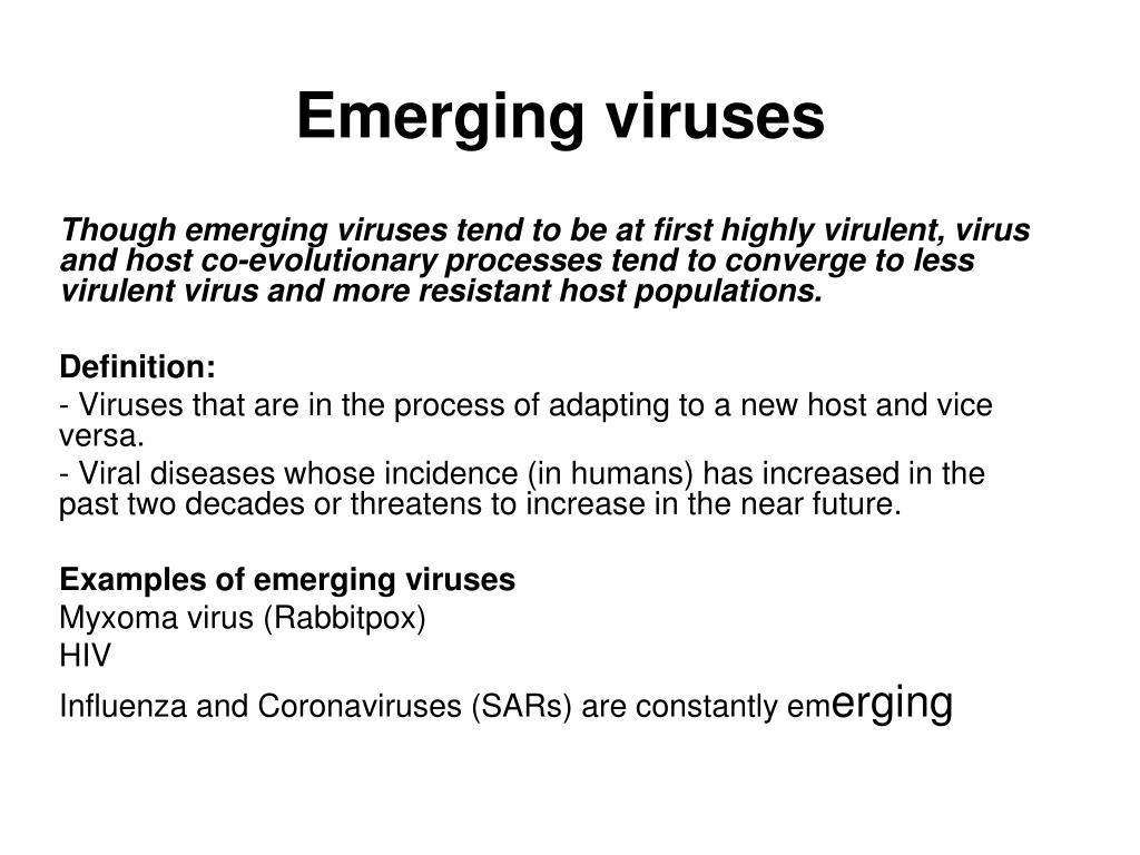 PPT - Emerging viruses PowerPoint Presentation - ID:1153613