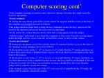 computer scoring cont29