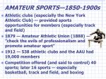 amateur sports 1850 1900s