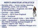 men s amateur athletics